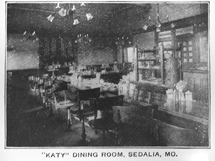 Katy Depot dining room